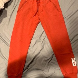 Kith bleeker orange quilted jogger